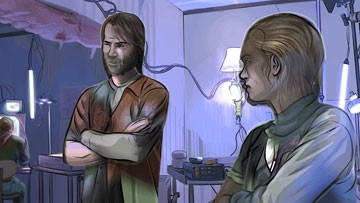 Una scena del film A scanner darkly