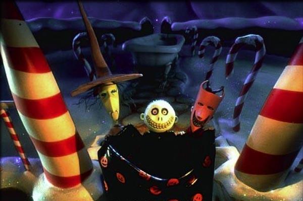 Jack Skeleton in una scena del film Nightmare Before Christmas