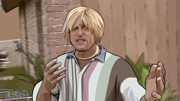 Woody Harrelson in una scena del film A scanner darkly
