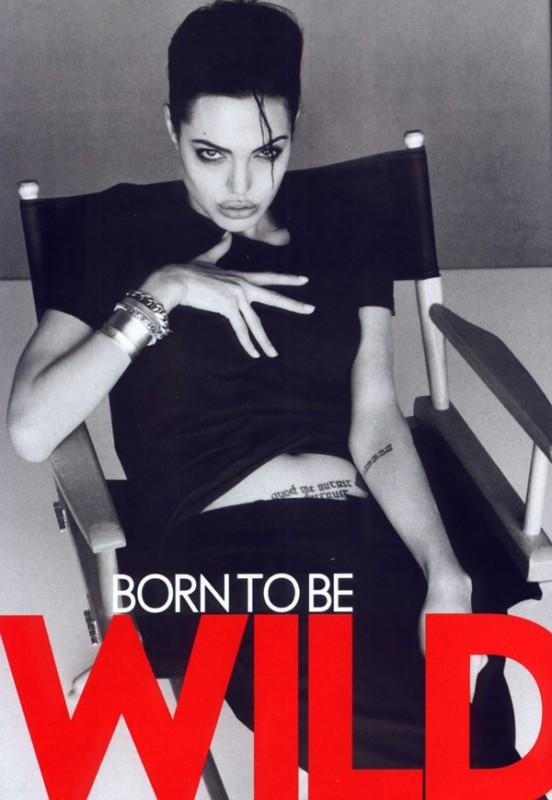 Angelina Jolie, born to be wild