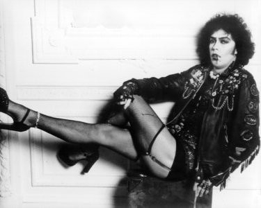 Una foto promozionale di Tim Curry per The Rocky Horror Picture Show