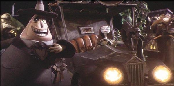 Una scena di Nightmare Before Christmas