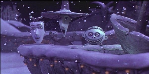 Una scena del film Nightmare Before Christmas (1993)