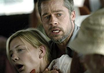 Cate Blanchett e Brad Pitt in una scena di Babel