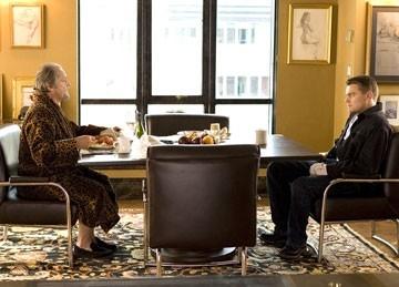 Leonardo DiCaprio e Jack Nicholson in una scena di the Departed