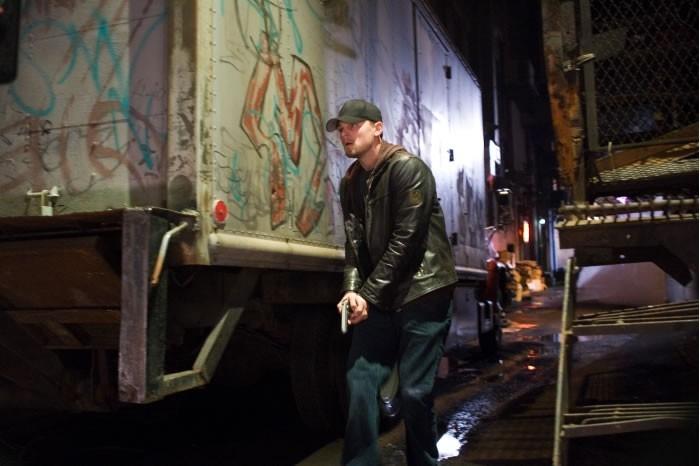 Leonardo DiCaprio in una sequenza del film di Martin Scorsese The Departed