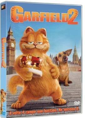 La copertina DVD di Garfield 2