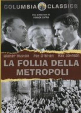 La copertina DVD di La follia della metropoli