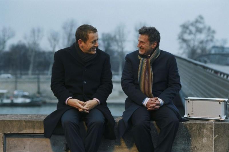 Dany Boon con Daniel Auteuil in una scena del film Il mio migliore amico