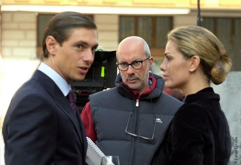 Giorgio Pasotti, Vanessa Incontrada e Maurizio Sciarra sul set del film Quale amore