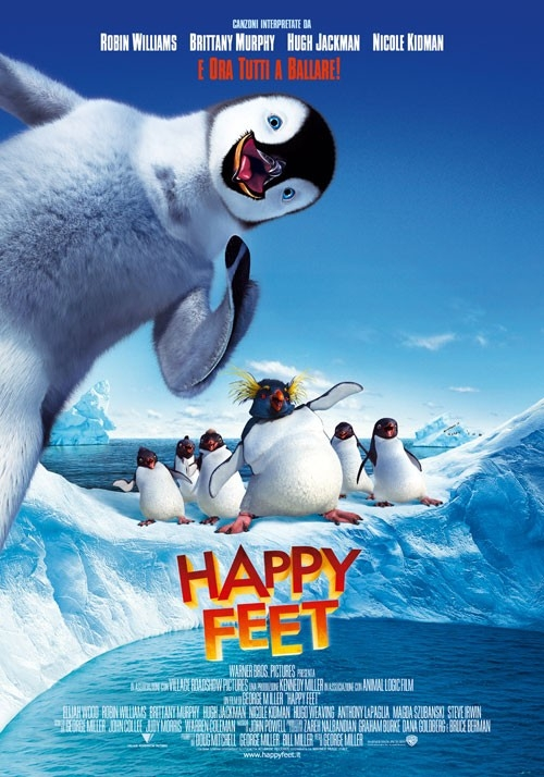 La locandina italiana di Happy Feet