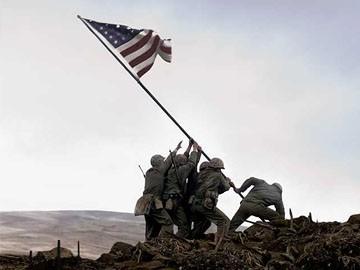 Una scena iconografica di Flags of Our Fathers