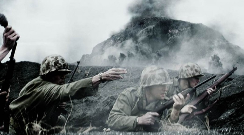 Una scena di Flags of Our Fathers, diretto da Clint Eastwood