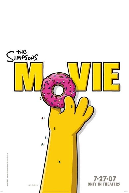 La locandina di The Simpsons Movie