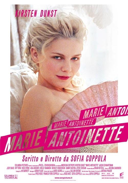 La locandina italiana di Marie Antoinette