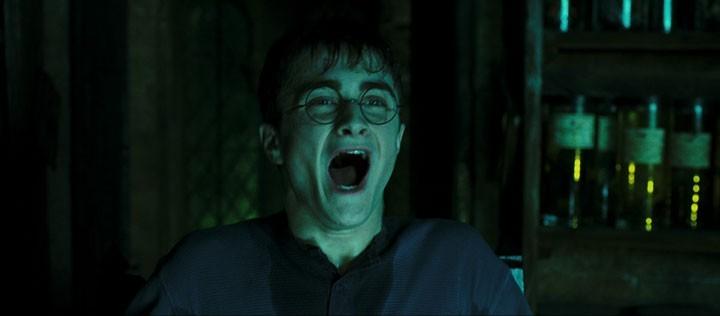 Daniel Radcliffe in una scena del film Harry Potter e l'Ordine della Fenice (2007)