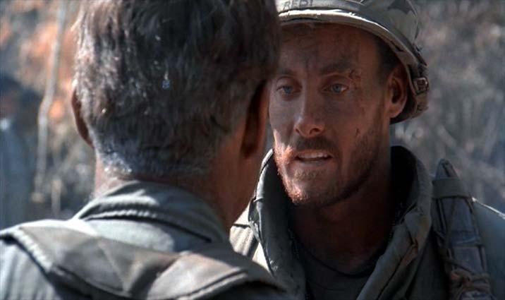 John C. McGinley in una scena di Platoon