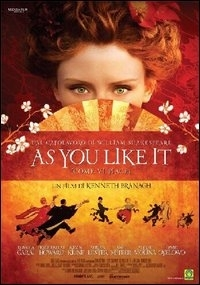 La copertina DVD di As You Like It