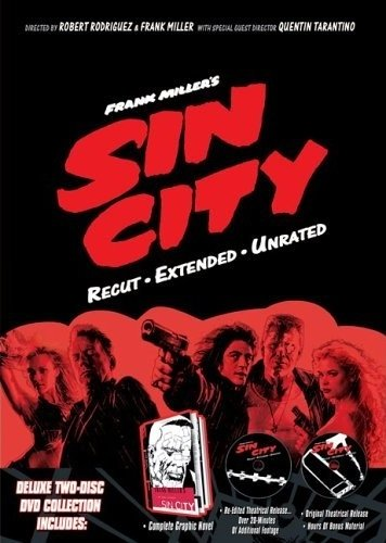 La copertina DVD di Frank Miller's Sin City (Recut, Extended, Unrated)