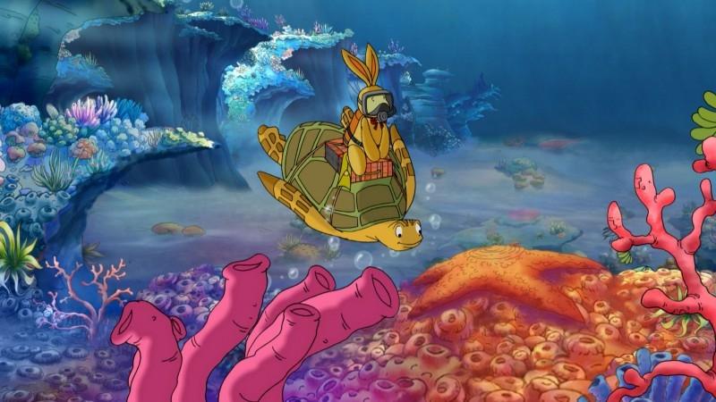 Una colorata scena del film Felix e la macchina del tempo