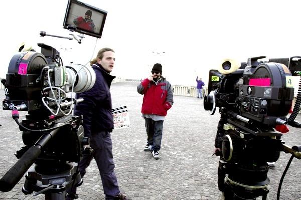 Una foto sul set de 'Il bambino e la Befana'