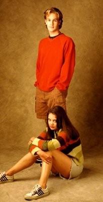 Katie Holmes e James Van Der Beek  nel serial televisivo Dawson's Creek