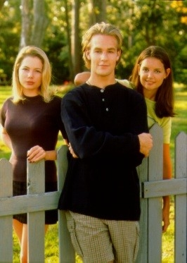 Katie Holmes, Michelle Williams e James Van Der Beek  in Dawson's Creek