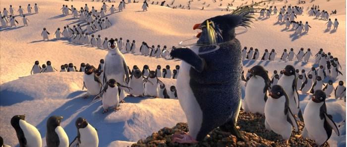 Una scena del film d'animazione Happy Feet (2006)