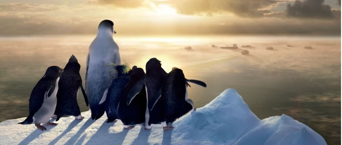 Una bella sequenza del film Happy Feet