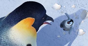Una scena del film Happy Feet