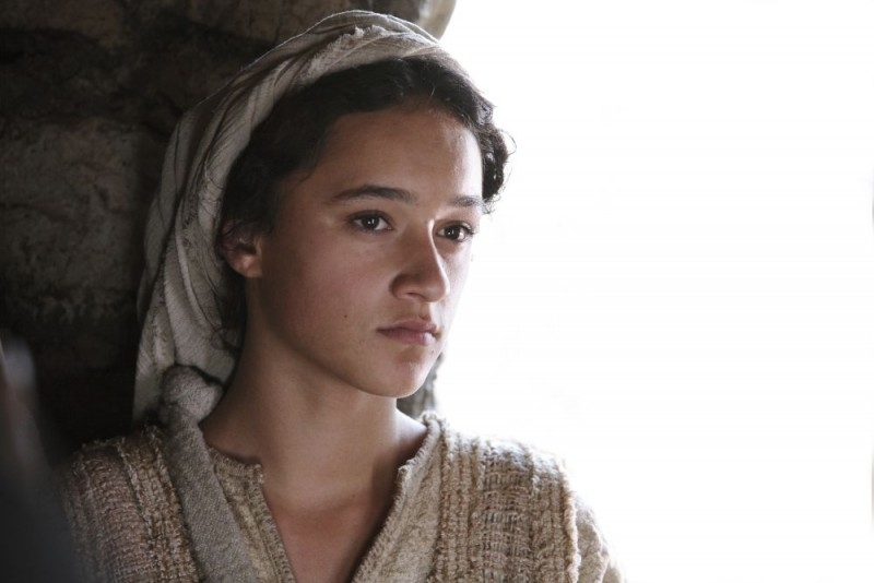 Keisha Castle-Hughes in una sequenza di Nativity