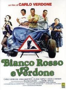 La copertina DVD di Bianco Rosso e Verdone