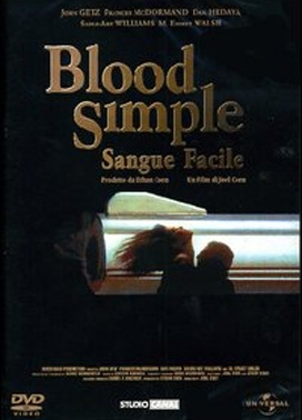La copertina DVD di Blood Simple - Sangue facile
