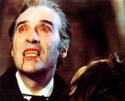 Christopher Lee è Dracula il vampiro