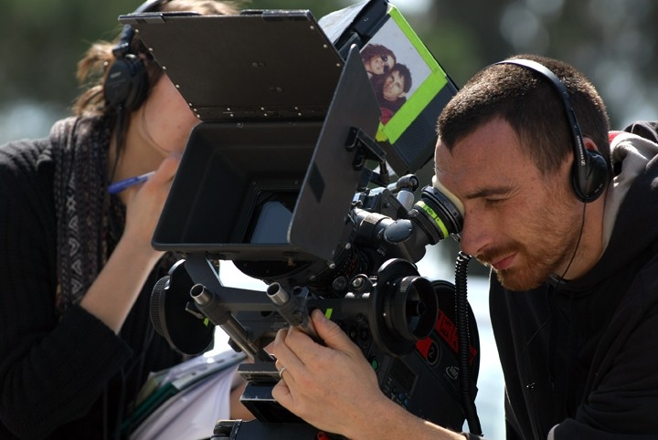 Antonio Manetti sul set del film TV Rapidamente
