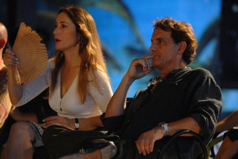 Francesco Salvi e Stefania Orsola Garello in una scena del film L'ultima battuta