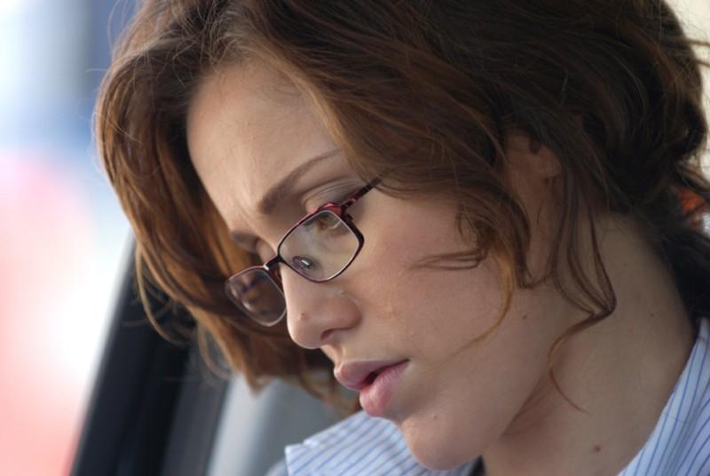 Gabriella Pession in una scena del film TV Rapidamente, della serie Crimini
