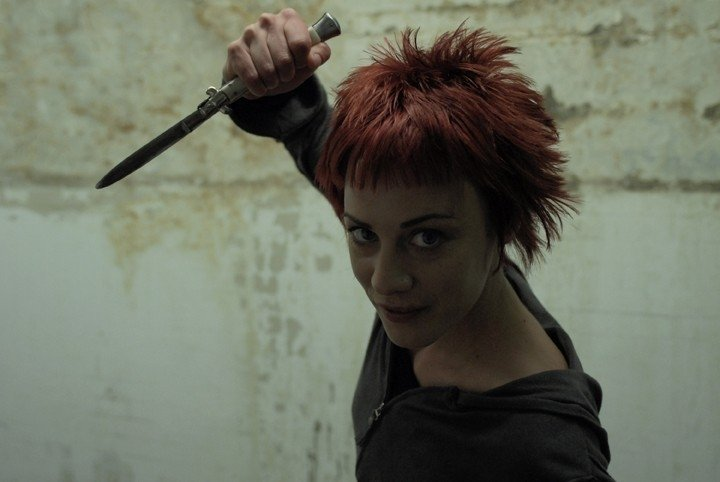 Nicoletta Amaduzzi in una scena del film televisivo Rapidamente