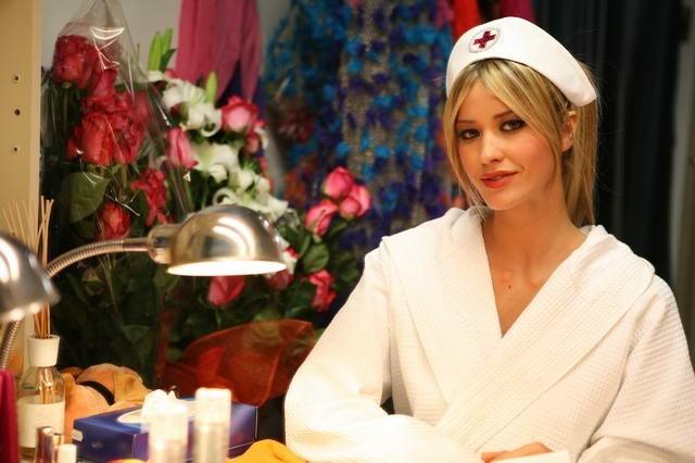 Elena Santarelli in veste di attrice in Commediasexi