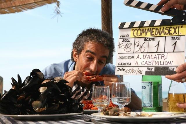 Sergio Rubini sul set di Commediasexi