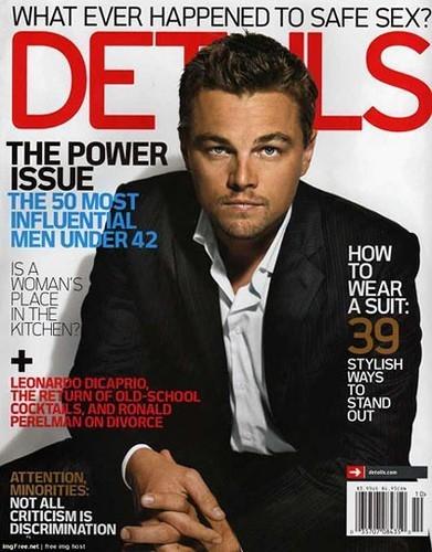 Leonardo DiCaprio sulla coverr di Details