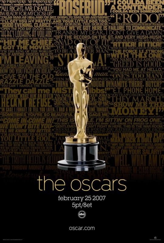Il manifesto della 79esima edizione degli Academy Awards