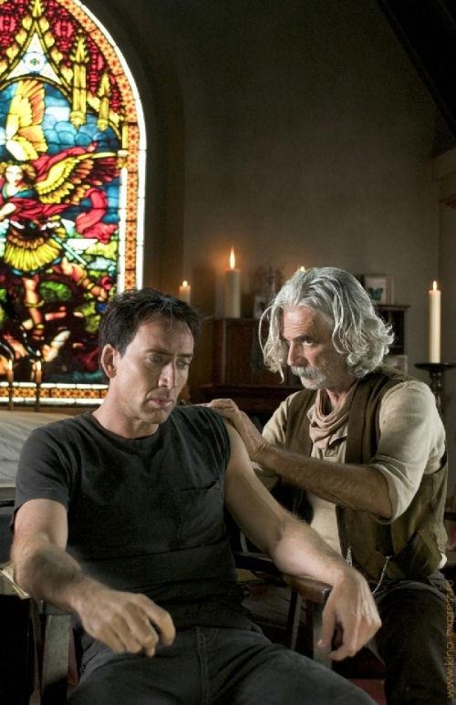 Nicolas Cage in una immagine di Ghost Rider