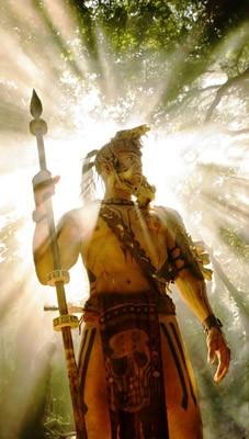Raoul Trujillo in una scena del film Apocalypto