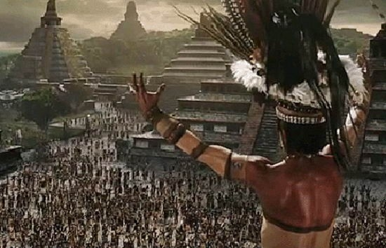 Una sequenza drammatica del film Apocalypto