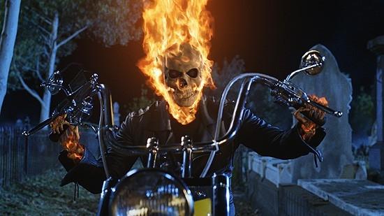 Il fiammeggiante protagonista di Ghost Rider