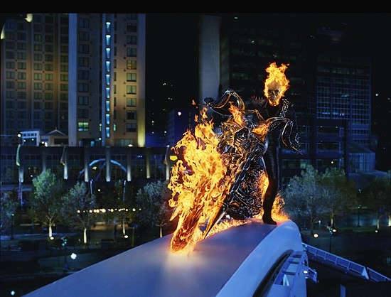 Una bella sequenza di Ghost Rider
