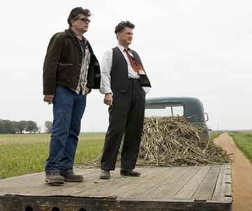 Steven Zaillian e Sean Penn sul set del film Tutti gli uomini del re