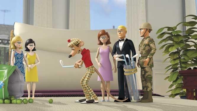 Una scena del film d'animazione Giù per il tubo (2006)