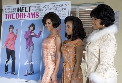Beyoncé con Anika Noni Rose e Jennifer Hudson in una scena di Dreamgirls